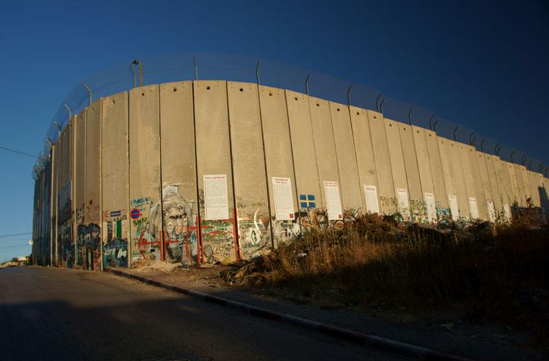 Autonomia Palestyńska - mur w Betlejem
