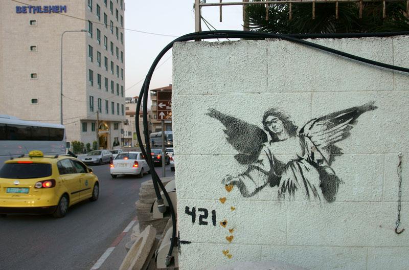 Autonomia Palestyńska - Belejem, graffiti Banksy'ego