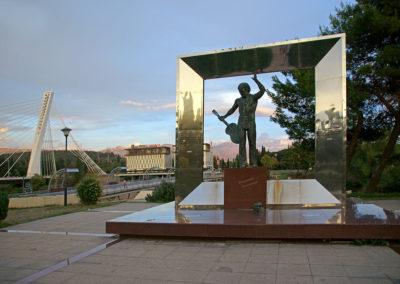 Podgorica - pomnik Włodzimierza Wysockiego